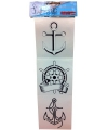 Tattoo stickervel zeebonk
